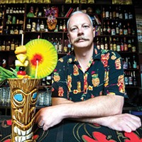 Stefan Was serves creative beverages at Porco Lounge and Tiki Room in Cleveland.