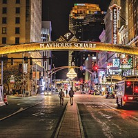 Playhouse Square attracts a bustling crowd in Cleveland.