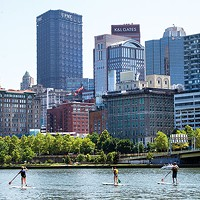 Standup paddle boarding in Pittsburgh