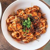Graves at Sea: Tater tots with house kimchi, soy caramel, nori, togarashi and scallions