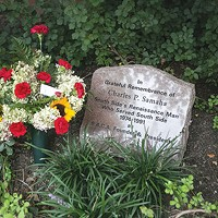 Memorial to South Side advocate Charlie Samaha