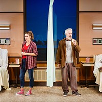Jenni Putney and Tim McGeever in <i>A Funny Thing …</i>, at City Theatre
