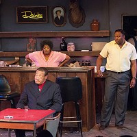 From left: Charles Timbers, Cheryl El-Walker and Monteze Freeland in <i>East Texas Hot Links</i>, at Pittsburgh Playwrights Theatre Co.