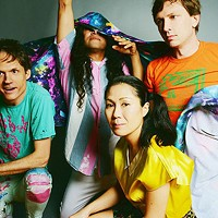John Dietrich (first on the right) and Deerhoof