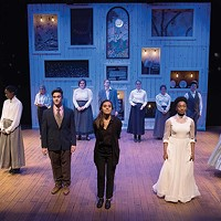 The cast of <i>Our Town</i>, at Pitt Stages