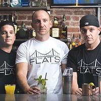 Mark Trunzo, Mark Seneca and David Turnzo at Best New Bar The Flats on Carson
