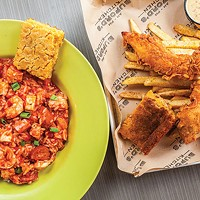 Jambalaya, and chicken and fries