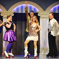 The cast of <i>Xanadu</i>, at Pittsburgh CLO
