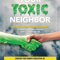 """Allegheny County residents ask Board of Health to address their """"toxic neighbor,"""" Clairton Coke Works"""
