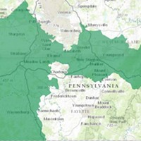 A map of Pennsylvania's 18th Congressional District