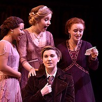 Left to right: Myha'La Herrold, Kennedy McMann, Eleanor Pearson and Aubyn Heglie in <i>Love's Labor's Won</i>, at CMU School of Drama