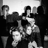 """Group Shot"" with Andy Warhol (at left) and Factory habitués"