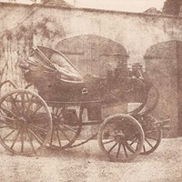 "William Henry Fox Talbot's 1844 photo ""A Barouche Parked in the North Courtyard of Lacock Abbey"""