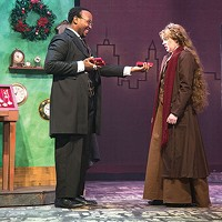 Davion Heron and Becky Brown in <i>The Gift of the Magi</i> at Point Park Conservatory Theatre Co.