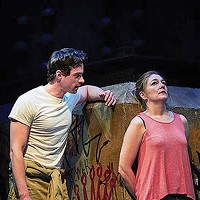JD Taylor and Rebecca Harris in <i>Ironbound</i>, at City Theatre