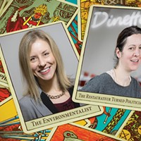 Environmental advocate Erika Strassburger (left) and chef/owner of Dinette Sonja Finn (right) are running for Pittsburgh City Council.