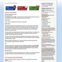 City of Pittsburgh website circa 2010