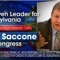 U.S. Congressional candidate Rick Saccone tallying fiscally conservative, anti-union support