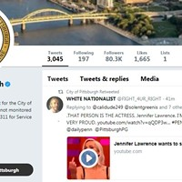 "Pittsburgh official Twitter account retweets a user with title ""WHITE NATIONALIST""; city says it was in error"