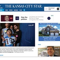 Screenshot of a Feb. 2 article in the Kansas City Star website showing a Lou Barletta ad above a sympathetic story of an undocumented immigrant