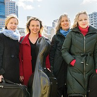 Clarion Quartet (left to right): Jennifer Orchard, Bronwyn Banerdt, Tatjana Mead Chamis, Marta Krechkovsky