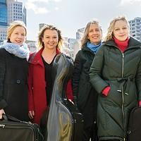 Clarion Quartet (left to right): Jennifer Orchard, Bronwyn Banerdt, Tatjana Mead Chamis, Marta Krechkovsky