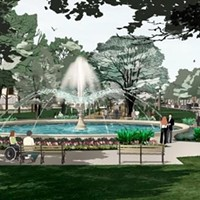 Rendering of Allegheny Commons fountain project
