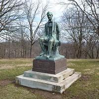 Stephen Foster statue in Alms Park in Cincinnati
