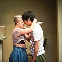 Katie Lynn Esswein and Christopher Larkin in <i>Nomad Motel </i>