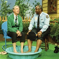 Fred Rogers with Francois Scarborough Clemmons from his show Mr. Rogers Neighborhood in the film, <i>Won't You Be My Neighbor?</i>