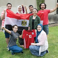 Members of the University of Pittsburgh's Egyptian Student Association