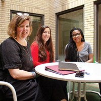 Office of Public Art staff: Sallyann Kluz, director; Rachel Klipa, manager of community engagement; Kahmeela Friedson, project assistant