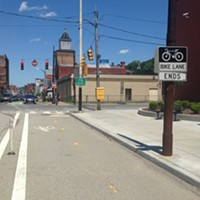 Bike advocates call for extending Penn Avenue bike lane through the Strip District
