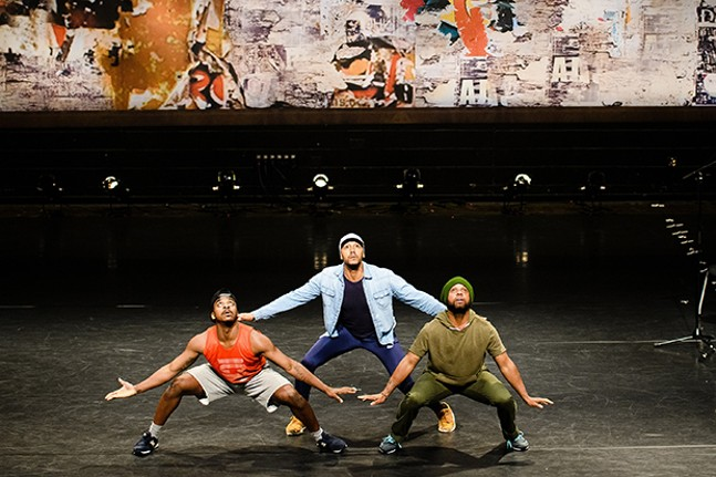 """Camille A. Brown & Dancers' """"ink"""" - PHOTO COURTESY OF PEAK PERFORMANCES, MONTCLAIR STATE UNIVERSITY"""
