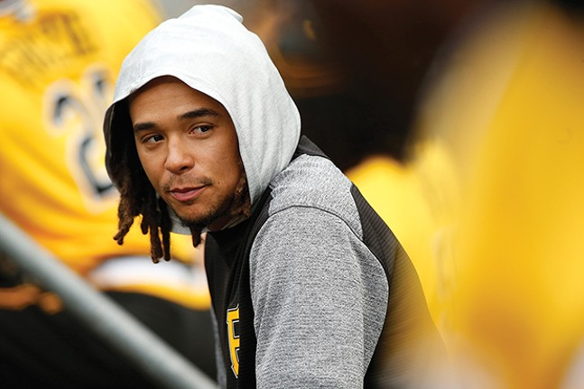 Chris Archer looks on from the dugout during the Pirates game on Sun., Aug. 5. - CP PHOTO BY JARED WICKERHAM