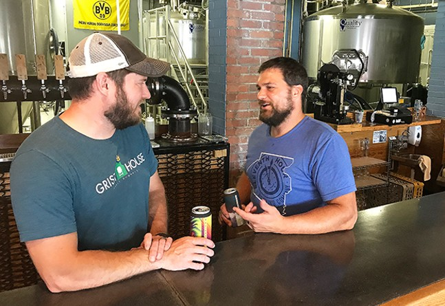Brian Eaton and Matt McMahon of the Pittsburgh Brewery Guild - RYAN DETO