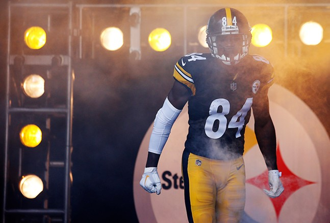 Antonio Brown enters through the tunnel during the game against the Kansas City Chiefs at Heinz Field on Sun., Sept. 16, 2018. - CP PHOTO: JARED WICKERHAM
