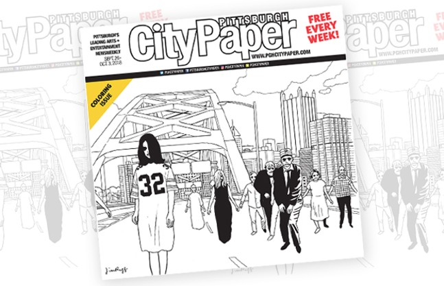 This week's Pittsburgh City Paper Coloring Issue cover - CP ILLUSTRATION: JIM RUGG