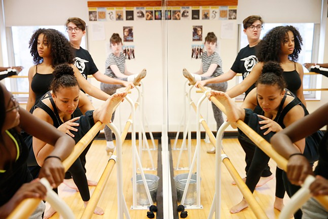 Erin Bowens, a junior at CAPA, practices in her Rehearsal and Performance Class. - CP PHOTO: JARED WICKERHAM
