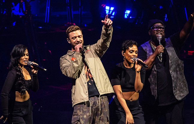 Justin Timberlake performs at PPG Paints Arena on Tue., Sept. 25. - CP PHOTO: MIKE PAPARIELLA