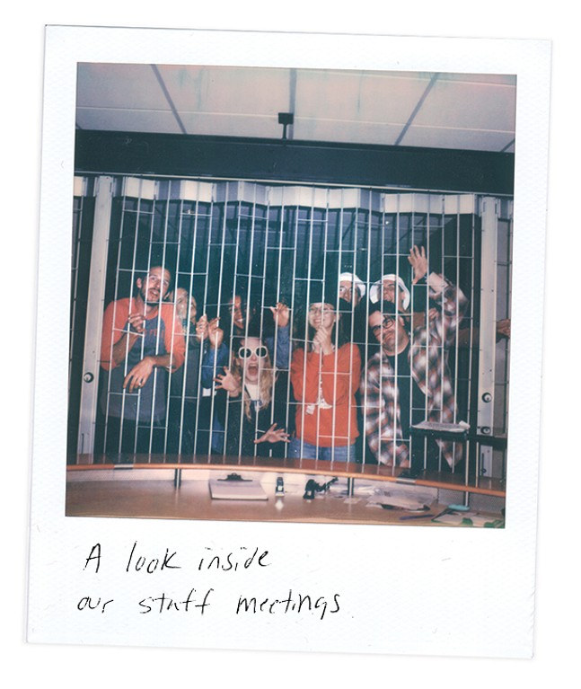 CP Staff caged in office.
