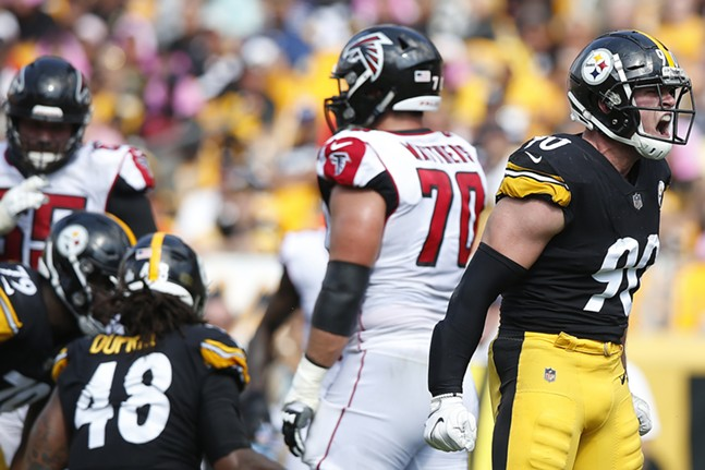 T.J. Watt reacts on a defensive stop early. - CP PHOTO: JARED WICKERHAM