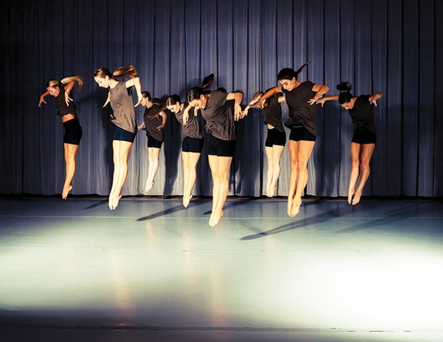 Slippery Rock University dance majors in Lindsay Fisher Viatori's 'Undercurrent' - BEN VIATORI