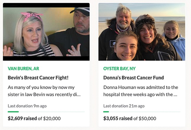 Breast cancer campaigns on GoFundMe