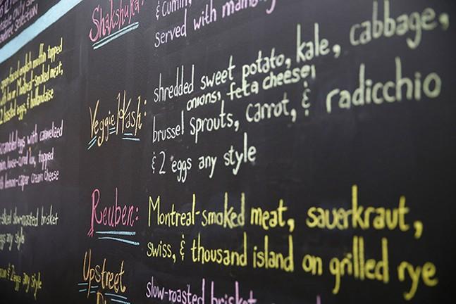 The menu at Nu: A Modern Jewish Bistro - CP PHOTO: JARED WICKERHAM