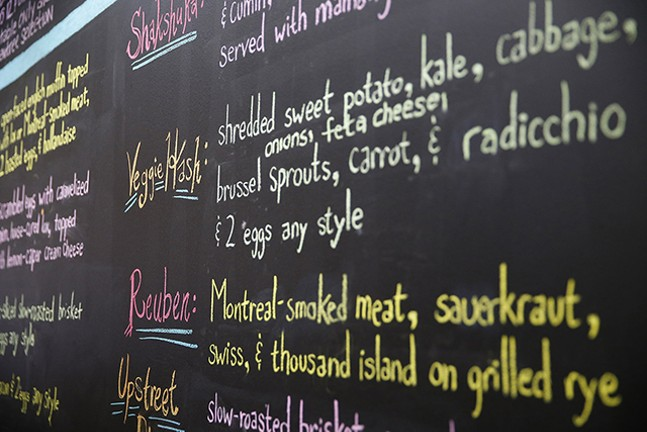 The menu at Nu: A Modern Jewish Bistro - CP PHOTO: JARED WICKERHAM