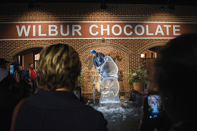 The Fire and Ice Festival outside the Wilbur Chocolate Factory - VENTURE LITITZ