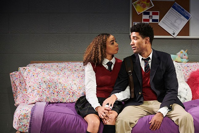 Krystal Rivera (Jasmine) and Carter Redwood (Omari) in Pipeline -  - PHOTO: KRISTI JAN HOOVER