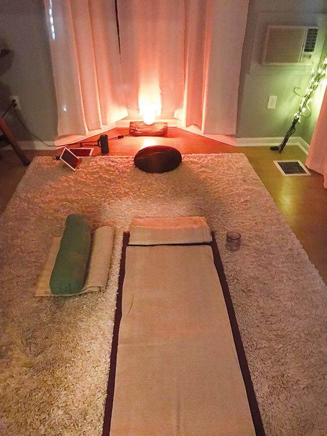 The yoga nidra room at Healing Roots - CP PHOTO: JORDAN SNOWDEN