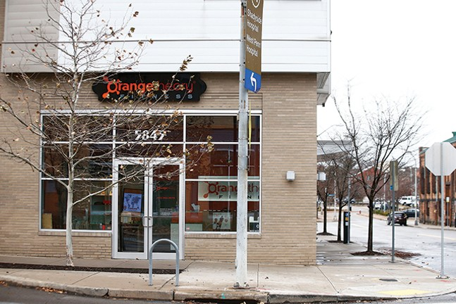 The exterior of Orangetheory in East Liberty - CP PHOTO: JARED WICKERHAM